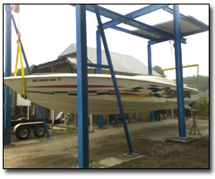 Monorail system for boats